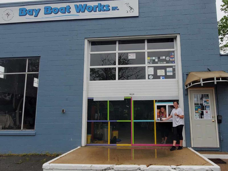 Bay Boat Works now has a walk up window to serve you!!